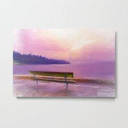 Salish Sunset Metal Print