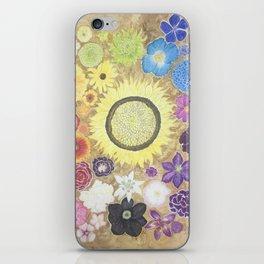 Rainbow of flowers iPhone Skin