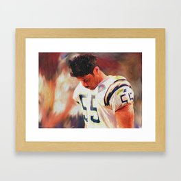 Junior Seau - #55 Framed Art Print
