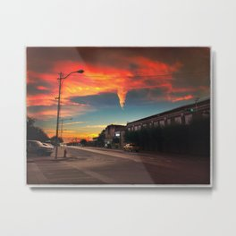 Small Town at Sunrise Metal Print
