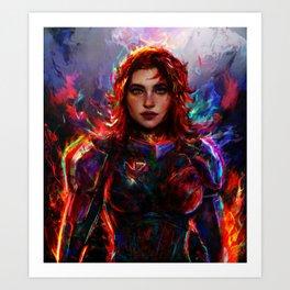 female Shepard Art Print