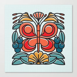 Butterfly tile Canvas Print