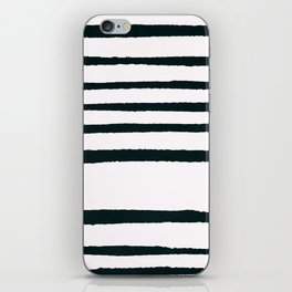 Abstract geometrical hand painted brushstrokes stripes iPhone Skin