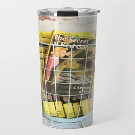 Nancy Drew in a Basket Travel Mug