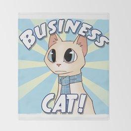 Business Cat! Throw Blanket