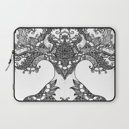 Unity of Halves - Life Tree - Rebirth - White Laptop Sleeve