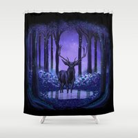 elf Shower Curtains featuring Elf Forest by Sachpica