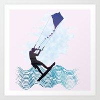 [mis]interpreting kiteboarding Art Print