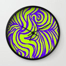 IRON of STEEL green on purple Wall Clock
