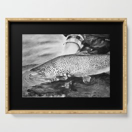 Marrón para un distraído (Brown Trout for a distracted) Serving Tray