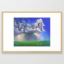 The rainbow godess Framed Art Print