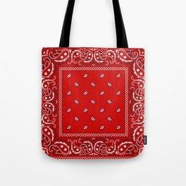 Paisley - Bandana - Red - Southwestern - Boho Tote Bag