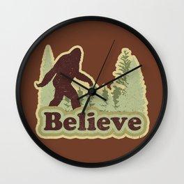 Bigfoot Believe Wall Clock
