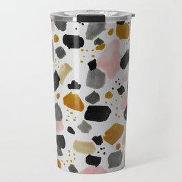 Terrazo brushstrokes Travel Mug