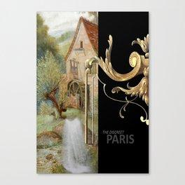 THE DISCREET PARIS The watermill of the parisian baker Canvas Print