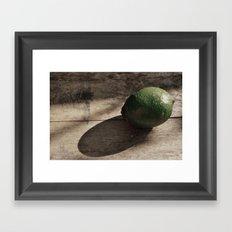 Still Life- Lime Framed Art Print