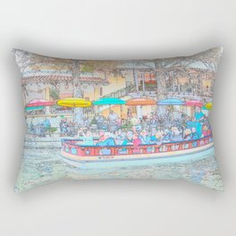 Ride Down The River - San Antonio, Texas Rectangular Pillow