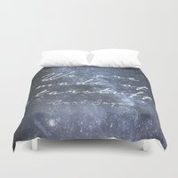 sagan Duvet Covers featuring We are made of starstuff. by Astrophotos by McLeod