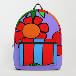 Inchie Clip - Hanging Flowers Purple Backpack