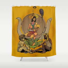 Isis - Egyptian Goddess, Mother to Horus and Patron to Artists and the Imprisoned Shower Curtain