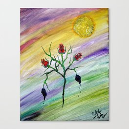 Tempered Rose Canvas Print
