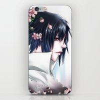 sasuke iPhone & iPod Skins featuring Sasuke Uchiha by Clockworkjoker92