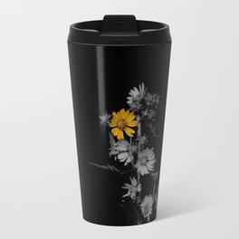 Partial Color Flower Travel Mug