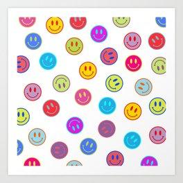 Smiley Obsessed #2 Art Print