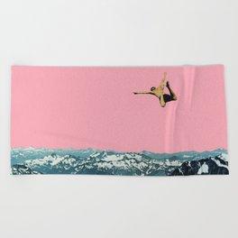 Higher Than Mountains Beach Towel