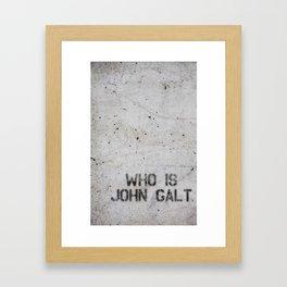 Atlas Shrugged / Who is John Galt Framed Art Print
