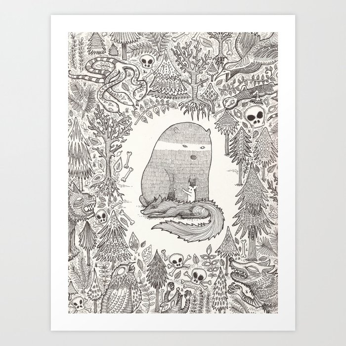 froggle, doggle and poggle Art Print