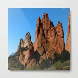 Rockformation - Garden Of Gods  - Colorado Metal Print
