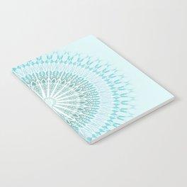 Turquoise White Mandala Notebook