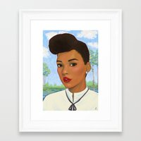 monet Framed Art Prints featuring Janelle Monet by Sayada Ramdial
