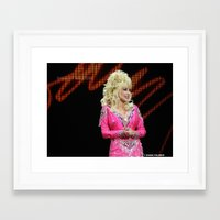 dolly parton Framed Art Prints featuring Dolly Parton in Gothenburg 8/28/11 by Diana Falheim