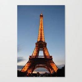 Eiffel Nights Canvas Print