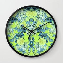 Neon Spring Set Wall Clock