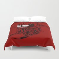 carnage Duvet Covers featuring Carnage Whale  by CoolBreezDesigns