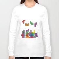 tetris Long Sleeve T-shirts featuring Tetris by Adayan