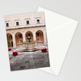 Monastic Courtyard Stationery Cards