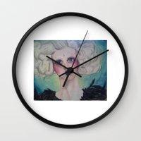 siren Wall Clocks featuring Siren by Darkest Devotion