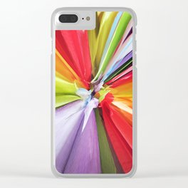 377 = Abstract Flower Design Clear iPhone Case