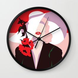 Marilyn Vintage Fashion Print - Cindy Rose Studio Wall Clock