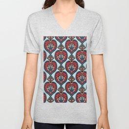 Boho flower mandala vector all over print. Unisex V-Neck