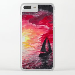 Sail Into the Sunset Clear iPhone Case