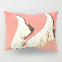 These Boots - Living Coral Pillow Sham