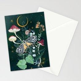Mushroom night moth Stationery Cards