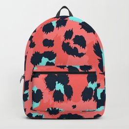 Leopard animal print modern style hand drawn vintage illustration pattern Backpack