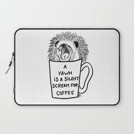 Hedgehog & coffee Laptop Sleeve