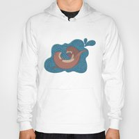otters Hoodies featuring Underwater Otters by Amarie